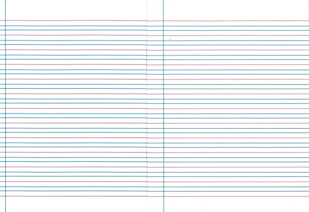 handwriting lines red and blue
